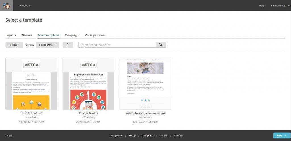Cómo crear tu newsletter con Mailchimp plantillas 3