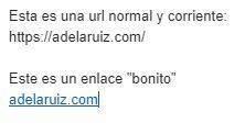 gmail poner un enlace bonito