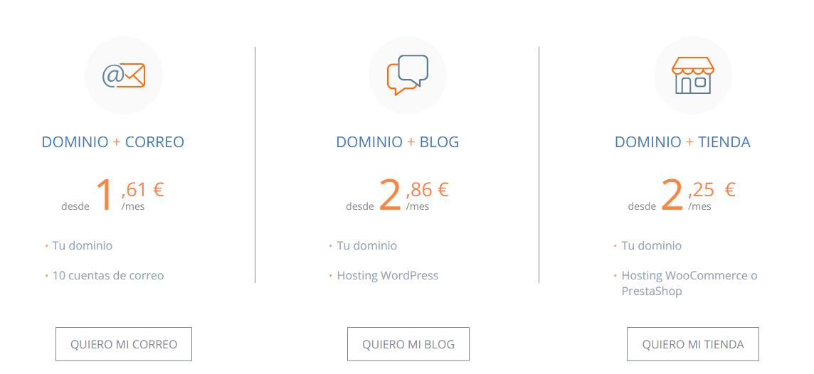 Comprar dominio barato Dinahosting