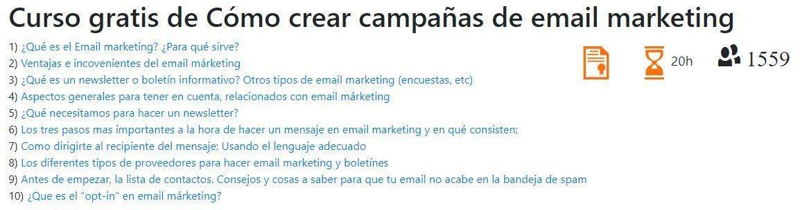 Cursos Gratis para aprender Email Marketing: aulafacil.com