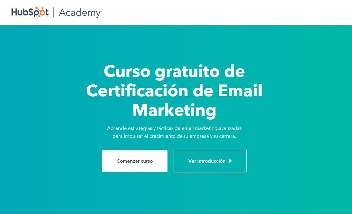 Cursos Gratis para aprender Email Marketing: Hubspot