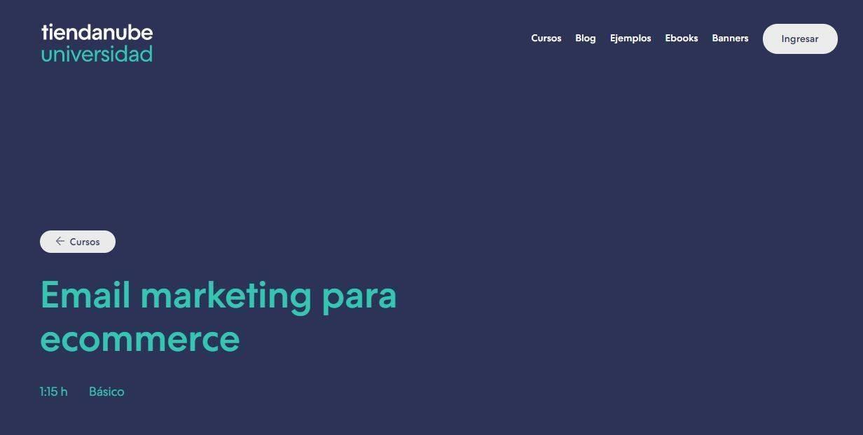 Cursos Gratis para aprender Email Marketing: tiendaenlanube.com