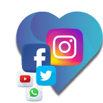 Redes sociales; youtube, instagram, facebook, twitter, whatsapp
