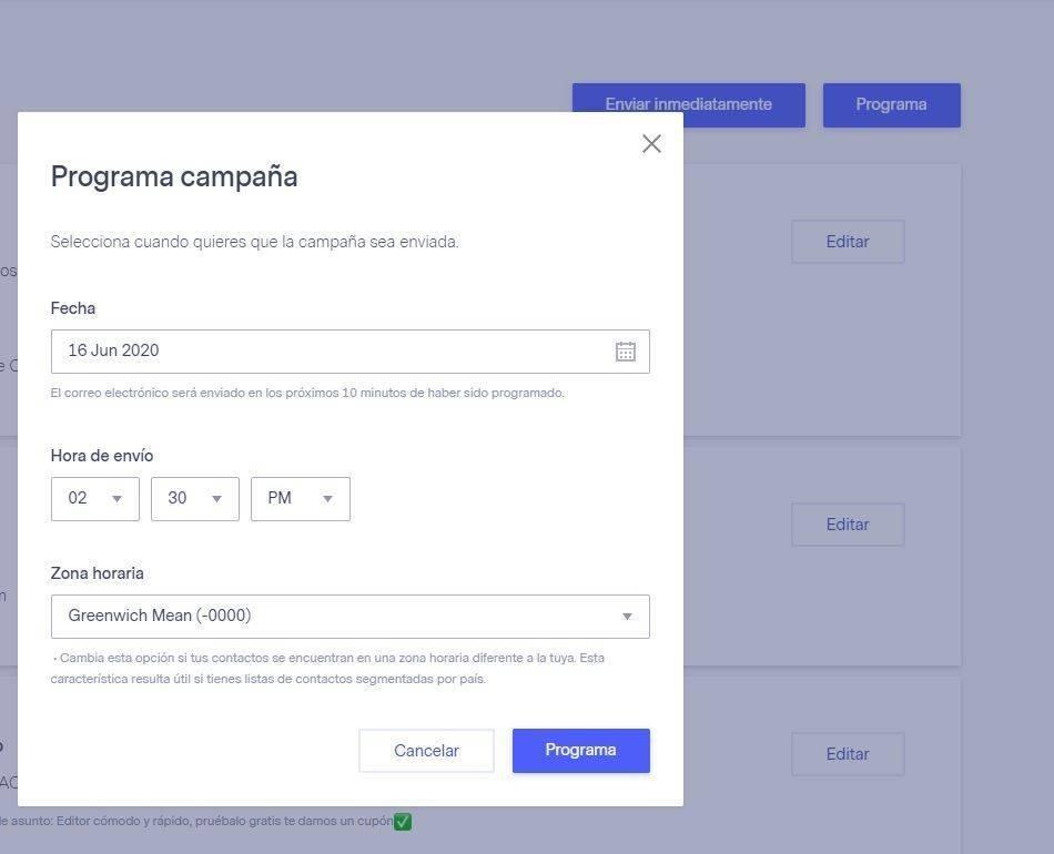 ¿Cómo hacer una newsletter con Benchmark? - programación