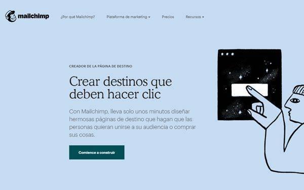 MAILCHIMP Herramientas para hacer Landing Pages