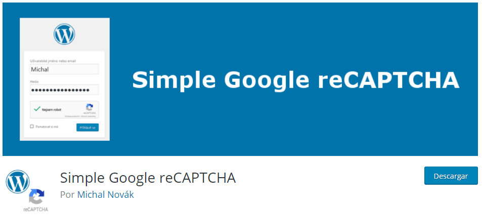 Plugin WordPress Simple Google reCAPTCHA