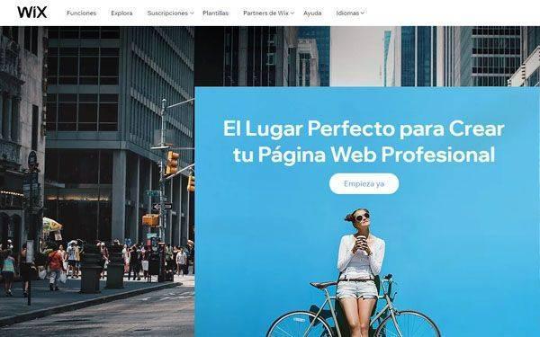 WIX Herramientas para hacer Landing Pages